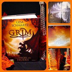Grim von Gesa Schwartz -  Ein dünnes Buch ist die Geschichte um den Gargoyle Grim mit seinen 678 Seiten mit Sicherheit nicht. Ich habe den Trip in das nächtliche Paris zusammen mit Mia und Grim sehr genossen und das Cover ist eine echte Schönheit.  #grim #fantasy #gesaschwartz #paris #gargoyle #notredame #lesen #bücher #buch