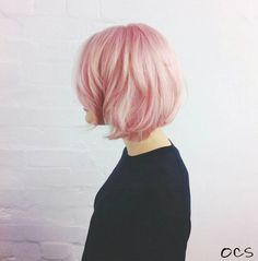 Pastel Pink Hair Colour by Glasshouse Salon with Organic Colour Systems! Pearly pink and 98% organic. #pinkhair #pastelpink