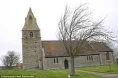 Leaning tower: St James's Church in Dry Doddington tilts more than its famous Italian counterpart