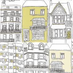 Brighton Wallpaper - Ocean/Sailor Blue/Apple/Neutral - Harlequin What a Hoot Fabrics & Wallpapers Collection Harlequin Wallpaper, Home Wallpaper, Fabric Wallpaper, Wallpaper Roll, Contemporary Fabric, Contemporary Home Decor, Brighton, Gaston Y Daniela, Office Branding