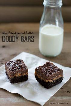 Chocolate Peanut Butter Goody Bars