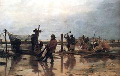 Fastening the Nets (1885)     by Edouard Dantan
