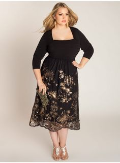 Keira Beaded Plus Size Dress - Just In by IGIGI