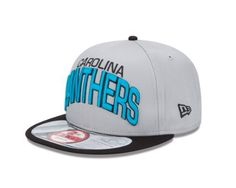 NFL Carolina Panthers NFL Reverse Arch Snap 9Fifty by New Era. $26.99. Interchangeable Snaps. 100% Cotton. 100% cotton. This 9FIFTY® cap features an embroidered (raised) Carolina Panthers team logo at front, stitched New Era® flag at wearer's left side, and a snapback closure for an adjustable fit. Interior includes branded taping and a moisture absorbing sweatband.