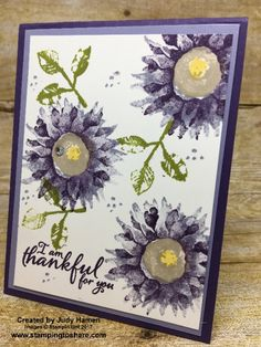 Stampin\' Up! Painted Harvest card created by Judy Hamen for #stampingtoshare demo meeting swap.