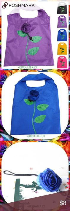 Eco ♻️ Reusable Bags ❤️No more paying for plastic bags or lugging merchandise under your arm. Easy to store, fold up and unroll for an quick usage. One simple rose leaf stem on the front. Please specify your color before purchase so that I can confirm that I still have it. ❤️  🌹 New in package 🌹 Material:Polyester 🌹 Colors: pink, blue, yellow & black 🌹 Width*Height:36*58CM 🌹 After folded, the diameter of rose is 9cm  🌹(Unit:CM) Size Conversion:1 inch=2.54cm or 1cm=0.393inch  ❌ No…