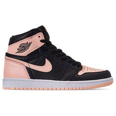 online store 52b50 da7df NIKE MEN S AIR JORDAN RETRO 1 HIGH OG BASKETBALL SHOES, PINK BLACK.