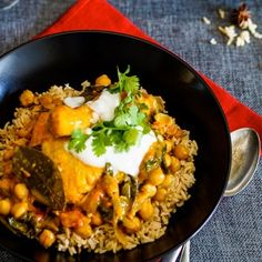 Chicken and chickpea coconut curry