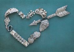 vintage jewelry heart assemblage {cori kindred}