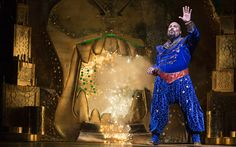 """James Monroe Iglehart as the Genie in the new Broadway musical """"Aladdin"""" (Photo by Cylla von Tiedemann) Disney Aladdin, Aladdin Broadway, Broadway Theatre, Disney Films, Musical Theatre, Disney Magic, Broadway Shows, Aladdin Cast, Musicals Broadway"""