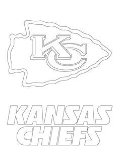 Kansas City Chief Coloring Page - Printable Kansas Day Coloring Pages - Sports - American Football, European Football, Football Crafts, Football Decor, Football Wreath, Football Tailgate, Football Shirts, Football Players, Chiefs Wallpaper