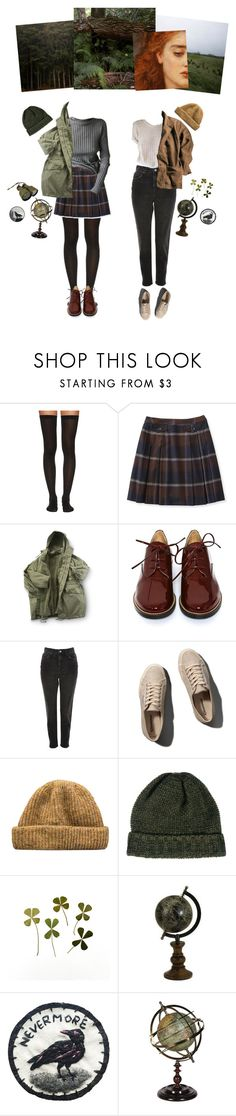 """""""The Woods are Lovely, Dark and Deep"""" by thesightofstars ❤ liked on Polyvore featuring Wolford, MM6 Maison Margiela, Topshop, Abercrombie & Fitch, SELECTED, Wolf & Moon and rustic"""