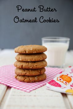 Peanut Butter Oatmeal Cookies from Weelicious.com