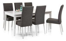ALICE-ruokaryhmä 6 tuolilla 90 x 170 cm