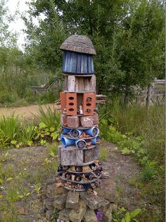 Insect tower at London Wetlands Centre, Barnes