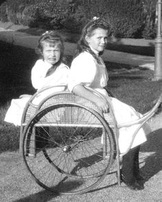 The Little Pair ~ Maria & Anastasia. Livadia, 1909.