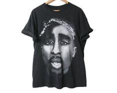 aa4c2143 Vintage 2 Pac T Shirt - Diamond Stud in His Nose and Ear - Graphic Tee - 2Pac  Shirt - 1990s Hip Hop Rap T Shirt - Studded - Size Xl X Large