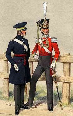 Two officers of the 29th in the flamboyant uniforms of the 1830 s British  Army Uniform cbbf2c4f6103