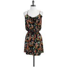 Pre-owned Parker Floral Elastic Waist Silk Dress ($79) ❤ liked on Polyvore featuring dresses, parker dresses, flower print dress, silk floral dress, floral dress and colorful dresses
