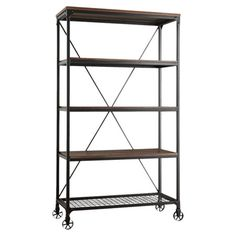 Harley Bookcase Brimming with industrial-chic flair, this classic metal bookcase isn't just for your reading nook-- it's also perfect for organizing the mudroom, displaying ...