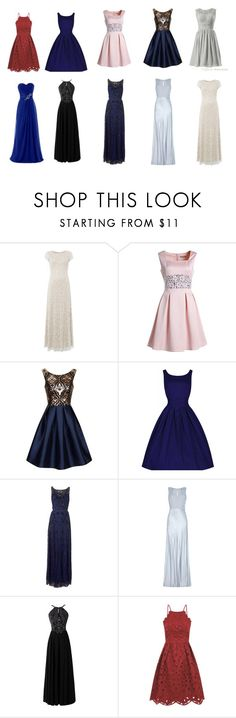 """""""Prom Dresses for the Hip Hourglass Body Shape"""" by ladylikecharm ❤ liked on Polyvore featuring Raishma, Chi Chi, Chicnova Fashion, JS Collections and Ghost"""