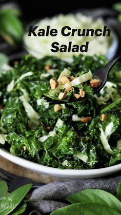 Kale Salad Recipes, Vegetarian Recipes, Healthy Recipes, Recipe For Kale Salad, Recipes With Kale, Kale Apple Salad, Kale Salads, Broccoli Salad With Cranberries, Whole Food Recipes