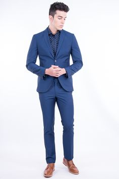 Slim Fit Polyester Suit