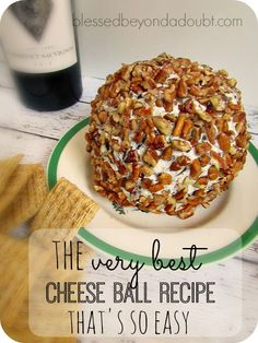 The BEST cheese ball recipe that is so easy! Only 5 ingredients!