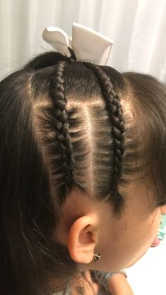Hair style,with braids.