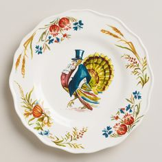 Turkey Scalloped Plate | World Market...I'd love to get 20 of these, perfect for when I host Thanksgiving!