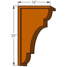 Island Corbels x New Brighton w/Backplate Rough Sawn or Smooth Solid Wood Corbel (Available in or Widths) Small Woodworking Projects, Woodworking Workshop, Diy Woodworking, Porch Brackets, Wood Brackets, Front Wall Design, Build A Farmhouse Table, Wooden Corbels, Plywood Projects