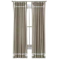 Happy Chic by Jonathan Adler Lola Canvas Curtain Panel  found at @JCPenney $34