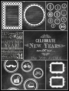Free New Years Eve Party Printables. I am loving the chalkboard look!
