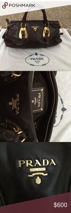 Prada handbag I only use couple times the, storage in dust bag in my closet. I doesn't have the authentic card. Prada Bags Satchels