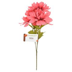 Floral Garden faux pink dahlia flowers make a grand decorating accent! Plus, wired stems let you bend and shape to suit your needs making them perfect for faux floral craft projects. Also great for ce Fake Flowers, Dahlia Flowers, Artificial Flowers, Florist Supplies, Craft Supplies, Boho Wedding, Wedding Flowers, Dollar Tree Wedding, Carnations