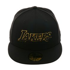 acc45422dad Exclusive New Era 59Fifty Los Angeles Lakers Jersey Hat - Black