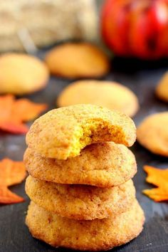 Soft, thick, and bursting with cinnamon and sugar, these Pumpkin-Doodle Cookies are full of pumpkin flavor. They're easy to make and the perfect fall treat to satisfy your pumpkin and cinnamon craving (Fall Recipes Cookies) Easy Cookie Recipes, Pumpkin Recipes, Fall Recipes, Baking Recipes, Vegan Recipes, Fun Desserts, Delicious Desserts, Dessert Recipes, Yummy Food