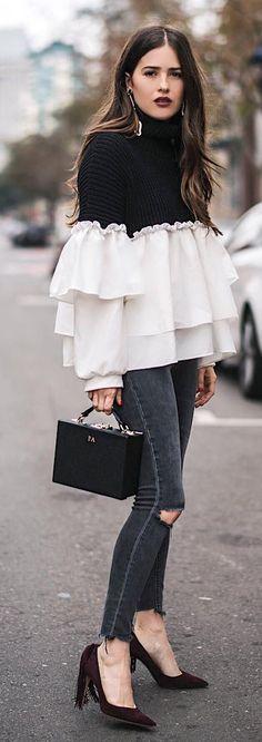 How to wear black clothes style 70 Ideas Look Fashion, Trendy Fashion, Autumn Fashion, Girl Fashion, Trendy Style, Fashion Women, Fashion Brands, Girls Fashion Clothes, Fashion Outfits