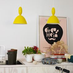 Mhy pendant lamp, yellow, Norway Says by Muuto