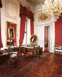 Emperor Franz Joseph's study in the Hofburg Palace, Vienna..