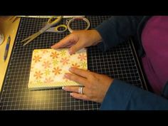 6x6 mini flip flap album with pockets (finished project) - YouTube