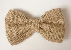 For my hair!  Etsy listing at https://www.etsy.com/listing/152224614/burlap-hair-bow-or-bow-tie-burlap-bows