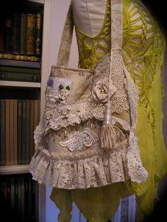 Shabby Victorian Purse handmade bag vintage by TatteredDelicates, $120.00