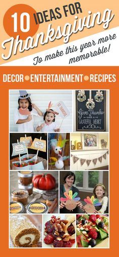 Thanksgiving DIY Ideas | Looking for ideas for the perfect Thanksgiving? We've got your covered with ten awesome ideas for entertainment, decor, and recipes!