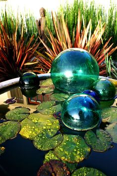 feng shui garden.. Got the bubbles, just need the lily pads!