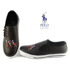 Ralph Lauren Polo Mens Casual Leather Shoes Black  62.00. 36568164da