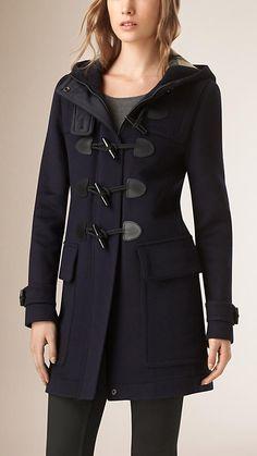 Dark indigo Straight Fit Duffle Coat - Image 1