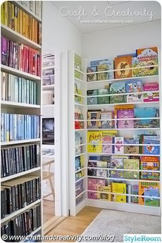 DIY Bookcase for the childrens books in the library Book Wall, Bookshelves, Bookcase, Childrens Books, Nursery, Children Activities, Home Decor, Children Books, Activities For Children