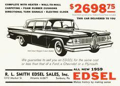 vintage edsel photos | 1959 Edsel Ranger 2-Door Sedan | Explore aldenjewell's photo ...