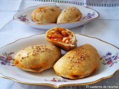 El cuaderno de recetas: Empanadillas Caseras Empanadas, Hamburger, Easy Meals, Pizza, Snacks, Recipes, Html, Food, Breads